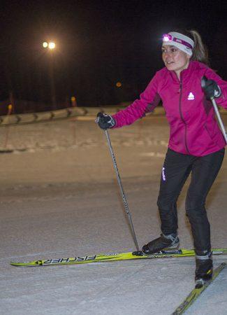 Ski nordique en nocturne