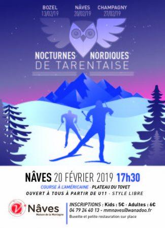 Course nordique en nocturne